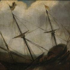 Barco en una borrasca