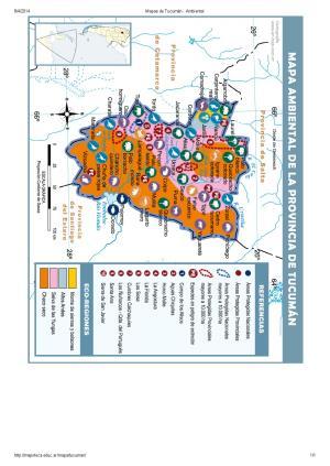 Mapa ambiental de Tucumán. Mapoteca de Educ.ar