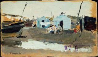 Barracones en la playa