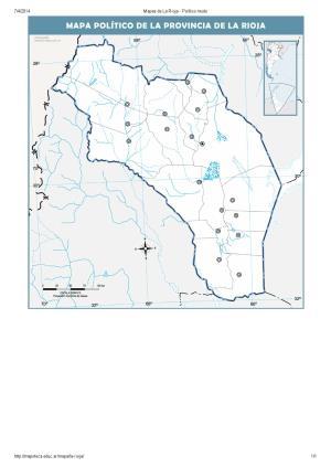 Mapa mudo de capitales de La Rioja. Mapoteca de Educ.ar