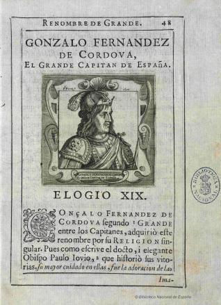 Retrato de Gonzalo Fernández de Córdoba