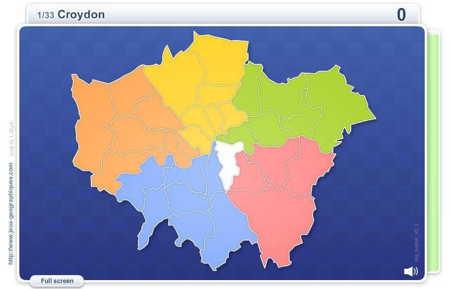 Boroughs of London . Geography map games