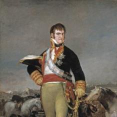Fernando VII, ante un campamento