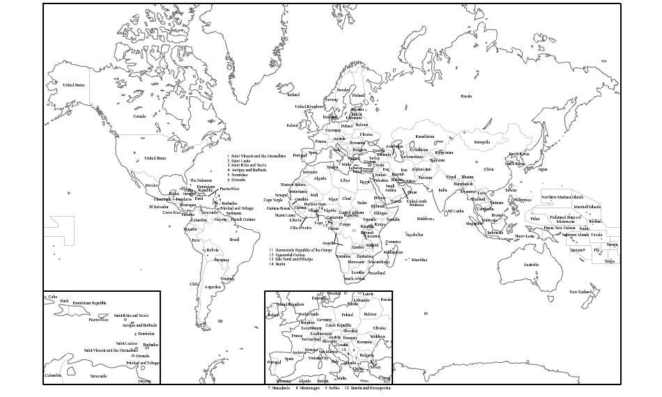 Mapa Del Mundo Paises Para Imprimir.Mapa Politico Del Mundo Blanco Y Negro Para Imprimir Mapa De