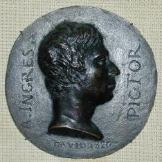 Medallón con retrato de Jean Auguste Dominique Ingres