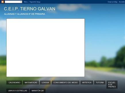 CEIP TIERNO GALVAN ALUMNAS Y ALUMNOS DE 6º DE PRIMARIA