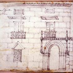 Fachada del palacio de los condes de Bornos, Segovia