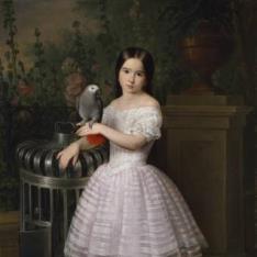 Rafaela Flores Calderón, niña