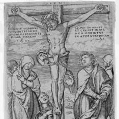 Cristo en la cruz con San Juan y las santas mujeres