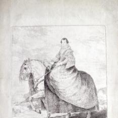 Retrato ecuestre de Doña Isabel de Borbón