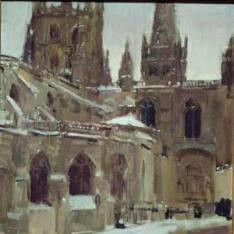 La Catedral de Burgos nevada