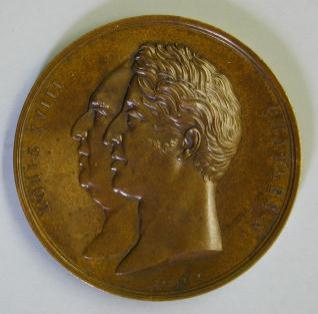 Medalla conmemorativa de la finalización de las obras del Palacio de la Bolsa de París
