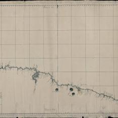 Plano geométrico de la costa de Cantabria desde Cavo de Peñas, hasta Sn. Yusti