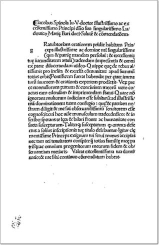 Oratio gratulatoria ad Alexandrum VI nomine Genuesium habita