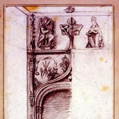 Detalle de una portada de la casa de Mossen Sorell, Valencia