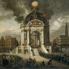 La procesión de Cristo Redentor en Amberes, 27 de agosto de 1685.