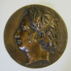 Medallón con el retrato de François Jean Dominique Arago