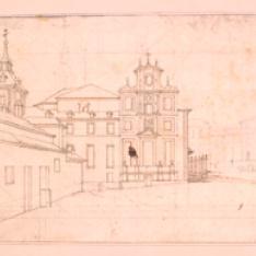 Vista urbana con convento, Madrid (?)