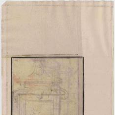 Estudios de edículas, puertas y chimenea