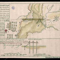 Plano de parte de el lugar de la Antigua