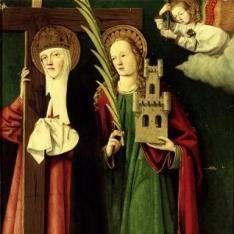 Los Reyes Católicos con Santa Elena y Santa Bárbara?