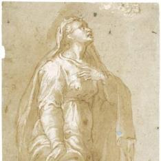 Figura femenina [La Virgen al pie de la Cruz (¿?)]