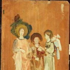 Dos santas y un ángel