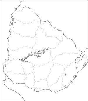 Mapa de departamentos de Uruguay. Freemap
