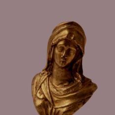 Pequeño busto de la Virgen