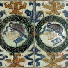 Paño de dos azulejos por tabla