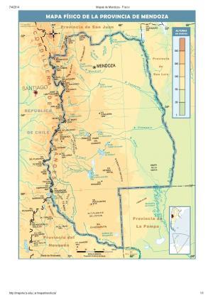 Mapa de ríos de Mendoza. Mapoteca de Educ.ar