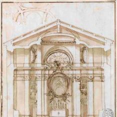 Sección transversal de una iglesia o capilla