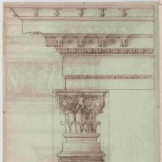 Capitel y entablamento del orden corintio