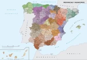 Mapa de provincias y municipios de España. IGN
