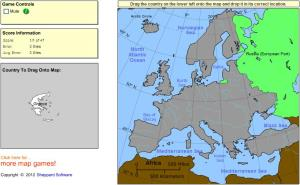 Countries of Europe. Intermediate. Sheppard Software