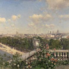 Vista de París desde el Trocadero