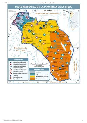 Mapa ambiental de La Rioja. Mapoteca de Educ.ar