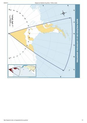 Mapa político mudo de la Antártida Argentina. Mapoteca de Educ.ar