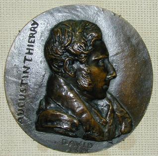 Medallón con retrato de Augustin Thierry