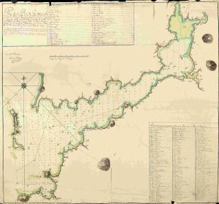 Plano de la Ría de Vigo