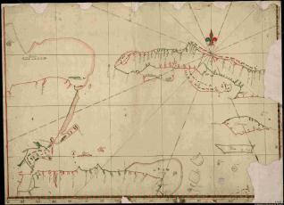 Carta de las costas de Honduras, E. de la península de Yucatán, O. de la isla de Cuba e isla de Jamaica