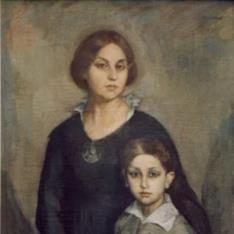 Retrato de la esposa del pintor y de su hijo Ricardo