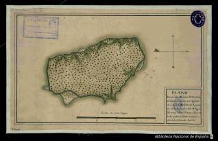 Plano de la Ysla de Juan Fernandez