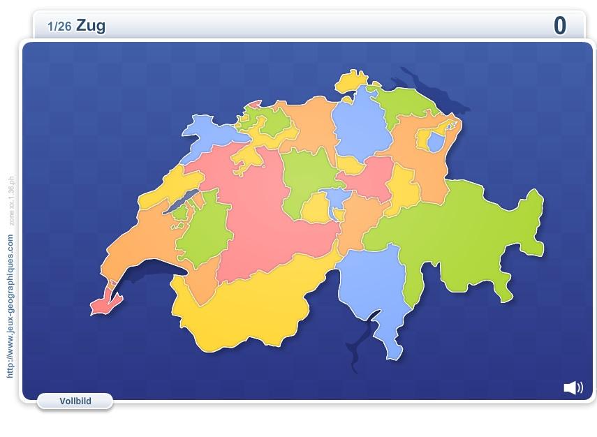 Schweizer Kantone. Geographie Spiele