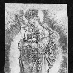 La Virgen con corona de estrellas y un cetro