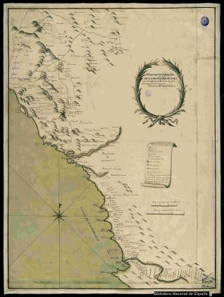 Mapa de la Provincia de Sonora