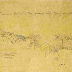 Reconocimiento del camino de Monblanch á Falcet pasando por Poblet, Prades y Cornudella