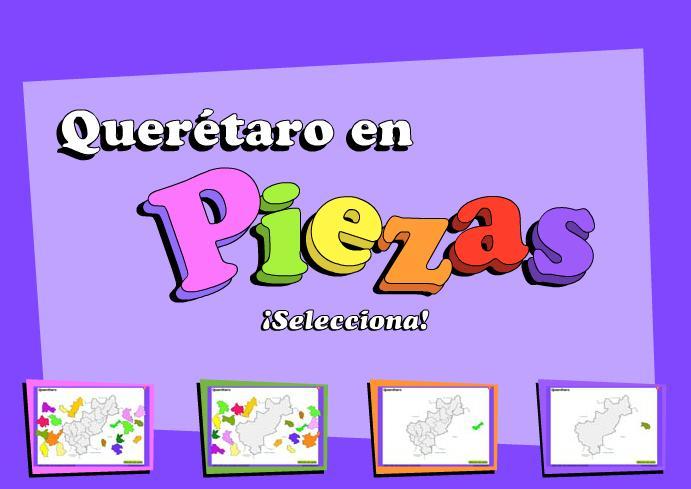 Municipios de Querétaro de Arteaga. Puzzle. INEGI de México