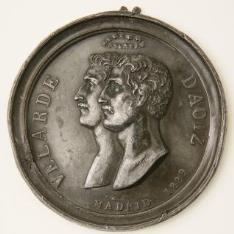 Prueba de anverso de medalla conmemorativa del 2 de Mayo
