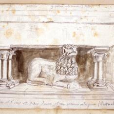Sepulcro del hijo de D. Pedro Atares (Veruela), Zaragoza